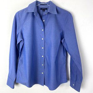Lands End No Iron Blouse Blue Size 8P